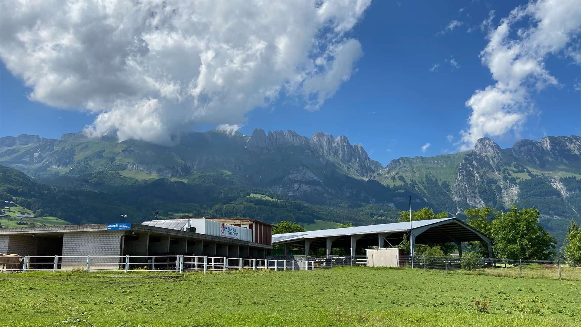 Westernreiten Schweiz - Gams Panoramaansicht